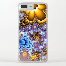 Floral Bouquet Fractal Clear iPhone Case