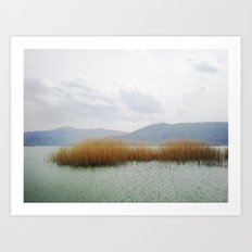 prespes.lakes.III.greece Art Print
