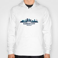 kansas city Hoodies featuring KANSAS CITY HOME by Random Acts of Design