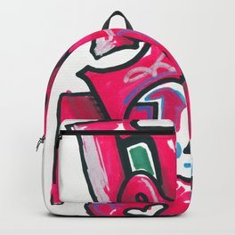 Magenta piece Backpack
