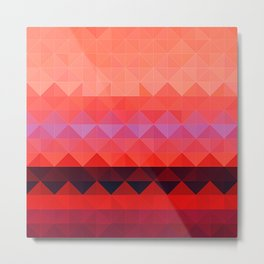 Aztec inspired triangle Tiled Abstract Metal Print