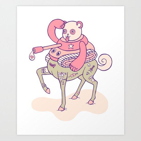 Pandatankhorse Art Print