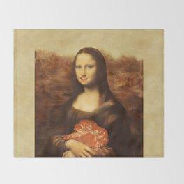 Mona Lisa Loves Valentine's Candy Throw Blanket