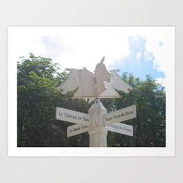 Sign to Everywhere in Chantilly, France (2008) Art Print