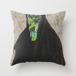 Miss Palms Throw Pillow