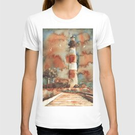 Bodie Island lighthouse- Outer Banks (OBX), NC.  North Carolina lighthouse Outer Banks artwork paint T-shirt