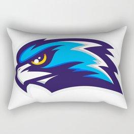 Hawk Head Mascot Rectangular Pillow