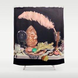 Rosé Brunch Shower Curtain