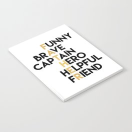 DEAR FATHER Fathers Day Quote Notebook
