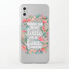 Little & Fierce Clear iPhone Case
