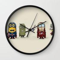 minion Wall Clocks featuring Minion Avengers by CforCel