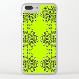 Half of a Mandala System Clear iPhone Case