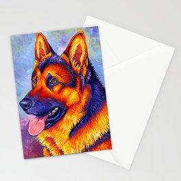 Colorful German Shepherd Dog Stationery Cards