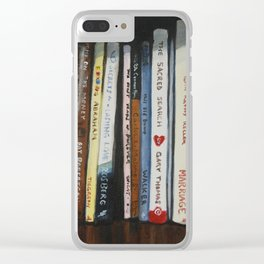 Bookshelf Acrylic Painting Clear iPhone Case