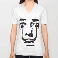 grand theft auto V-neck T-shirts featuring I am drugs ( Salvador Dali ) by Black Neon