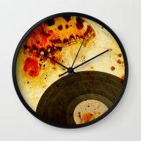 moth Wall Clocks featuring moth by Markus Breitbach