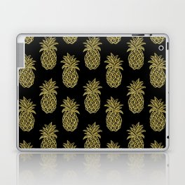 Golden Pineapples Laptop & iPad Skin