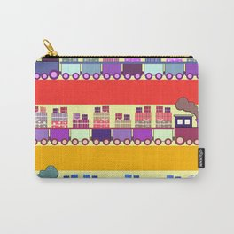 Colorful trains with Christmas gifts Carry-All Pouch