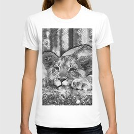 AnimalArtBW_Lion_20171205_by_JAMColors T-shirt