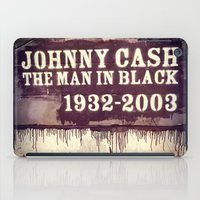 johnny cash iPad Cases featuring Johnny Cash by Dan99