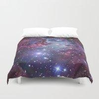 nebula Duvet Covers featuring Nebula Galaxy by RexLambo