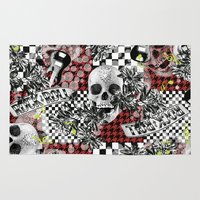 50s Area & Throw Rugs featuring 50s rock n roll by Mickaela Correia