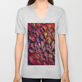 Flowers of the Red Tree, Crimson King Tree by Seraphine Louis Unisex V-Neck