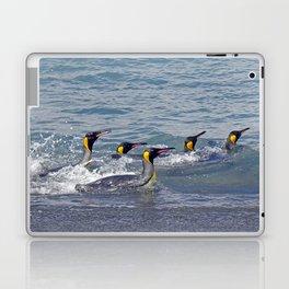 Swimming King Penguins Laptop & iPad Skin
