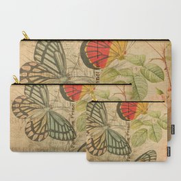 French Butterfly Collage Carry-All Pouch
