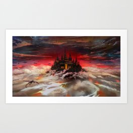 A world  reborn with Magic: Days of Dawn  Art Print