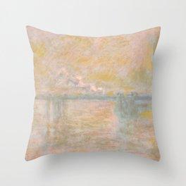 "Claude Monet ""Charing Cross Bridge"" (II) Throw Pillow"