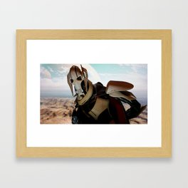 THE DROID LEADER Framed Art Print