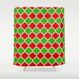 Christmas Domes - Red and Green Domes perfect for Christmas Home Decor Shower Curtain