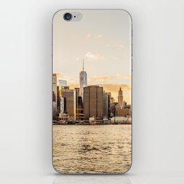 New York skyline at sunset iPhone Skin