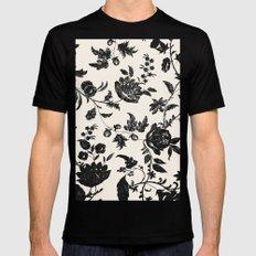 Floral Black MEDIUM Mens Fitted Tee