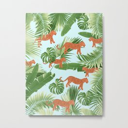 Leopard Jungle Dream Pattern #1 (Kids Collection) #decor #art #society6 Metal Print