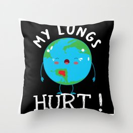Earth Sore Throat Throw Pillow
