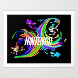 Pixel Splatoon Art Print