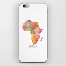 Africa map 2 iPhone & iPod Skin