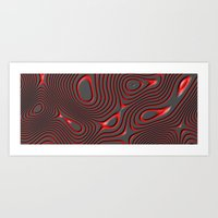 Organic Abstract 01 RED Art Print