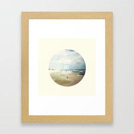 LET'S GET AWAY Framed Art Print