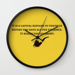 The Sherlock Holmes Quote IV Wall Clock