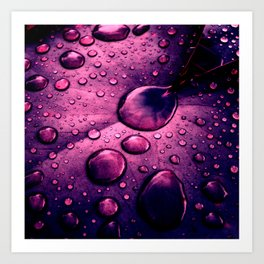 water drops XIIX Art Print