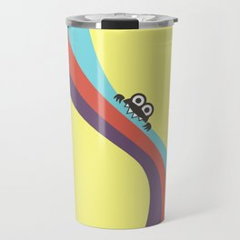 Funny Bug Bites Candy Colored Stripes Travel Mug