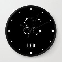 Leo Zodiac Sign Quote Wall Clock