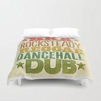 reggae Duvet Covers featuring Shades of Reggae by Panda