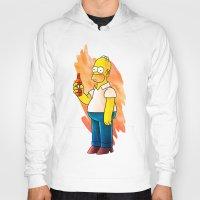 homer Hoodies featuring Homer & Duff by Lukas Stobie