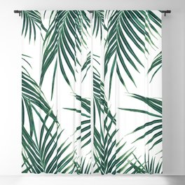 Green Palm Leaves Dream #2 #tropical #decor #art #society6 Blackout Curtain