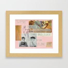 outrun the bad luck Framed Art Print