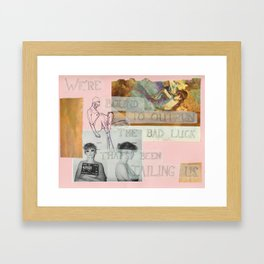 outrun the bad luck Framed Art Print